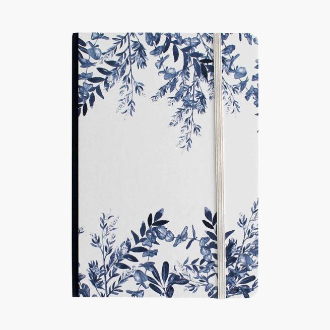 libro-blanco-a5-blue-leaves