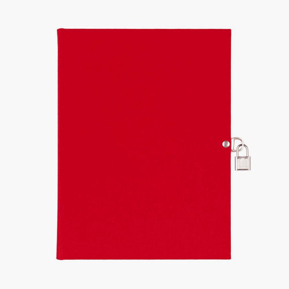 libro diario A5 rojo