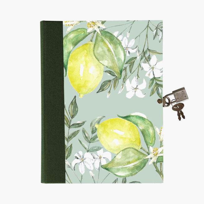 Diario personal con candado Citrus