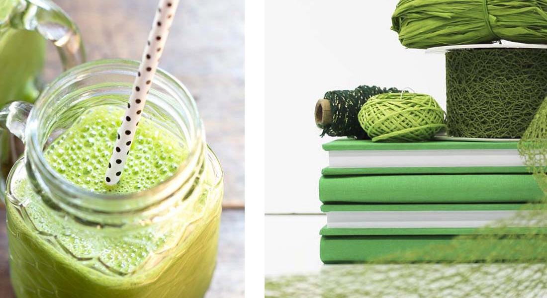 Piensa en verde. Telas verdes