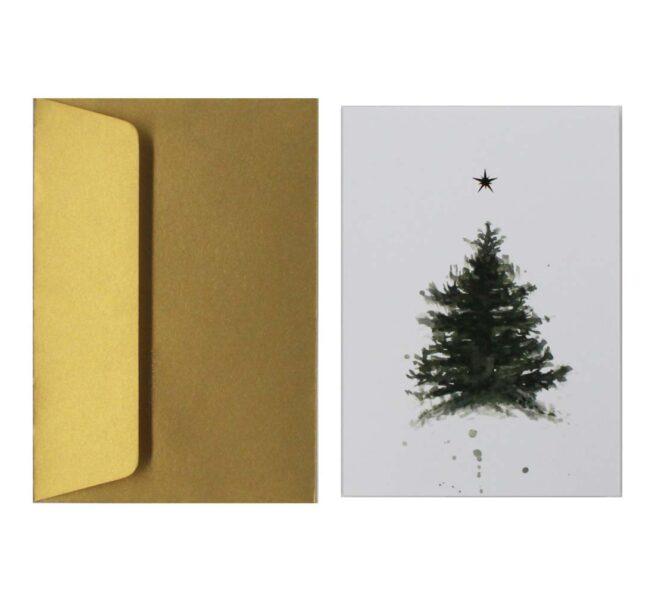 postal-navidena-arbol-estrella-oro