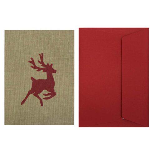 postal-navidena-tela-reno-rojo
