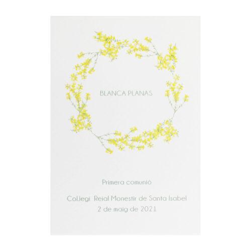 recordatorio-primera-comunion-flor-amarilla