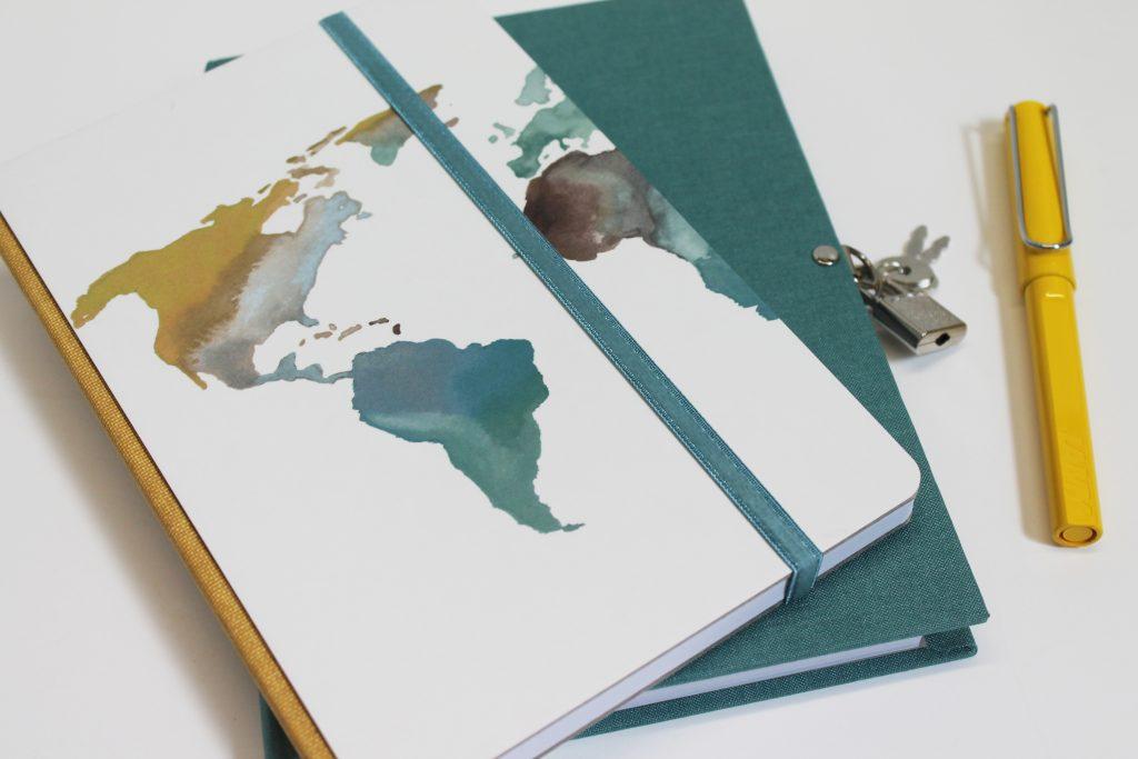 Diarios personales con candado de viajes
