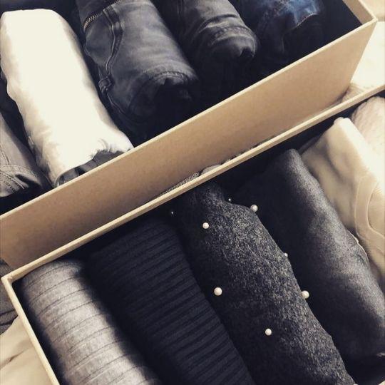 cajas para ordenar jerseys